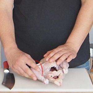 Anleitung Huhn zerlegen Schritt 1
